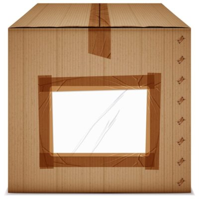 box with brown tape and open top_blank
