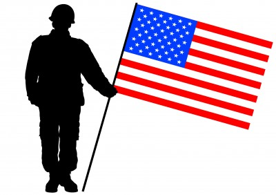 Flag and soldier