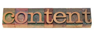 content word in letterpress type