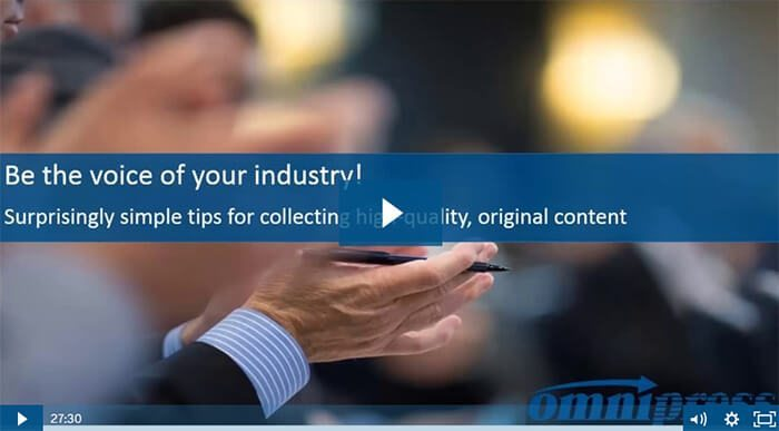 [Video] 10 Simple Tips for Collecting High-Quality Conference Content