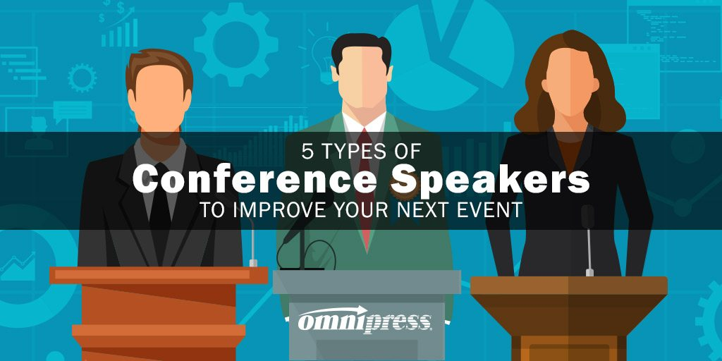 5 Types of Conference Speakers to Improve Your Next Event