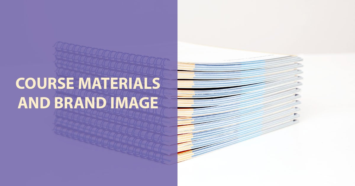 training course materials brand image