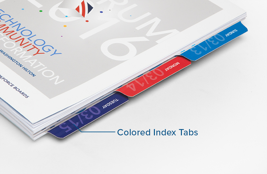 Omnipress Colored Index Tab Option
