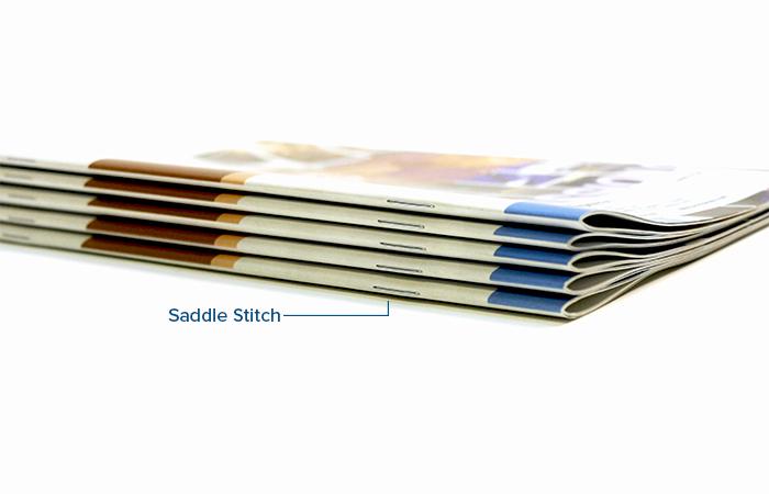 Omnipress Saddle Stitch Binding Option