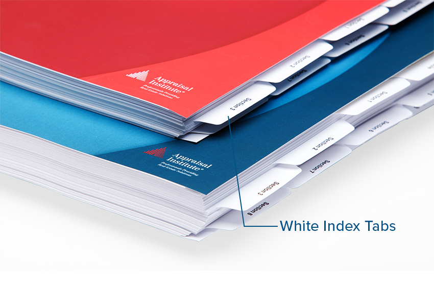 Omnipress White Index Tab Options