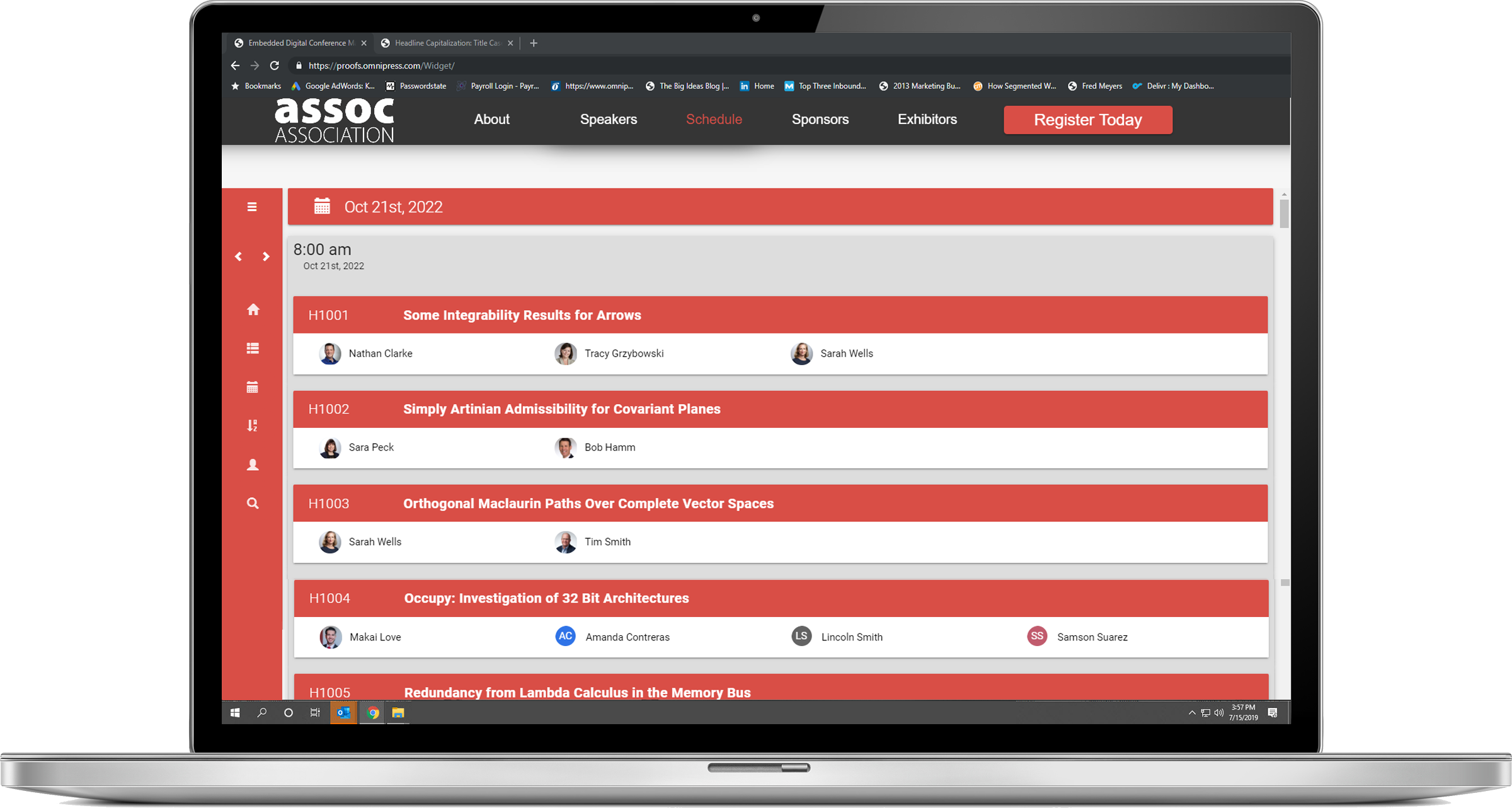conference event schedule tool software