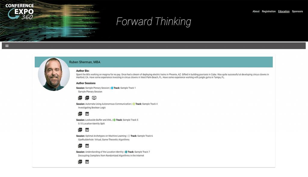 Speaker Bio Page
