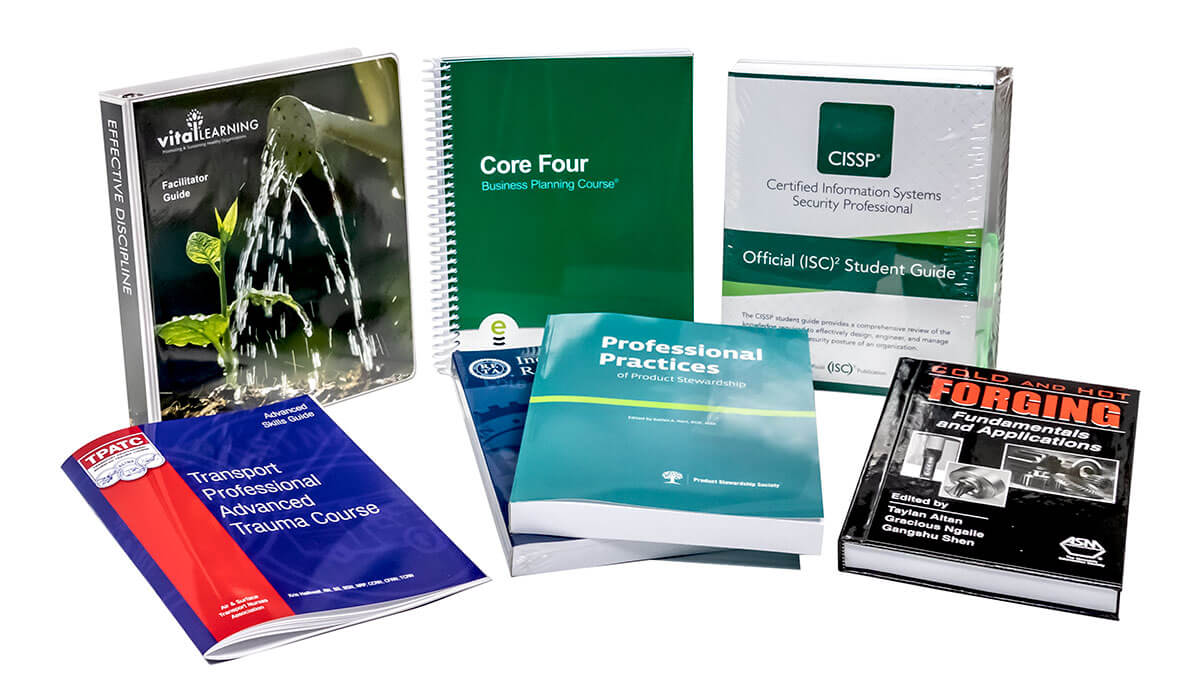 print manuals and materials training continuing education